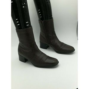 Blondo Brown Leather Ankle Boots